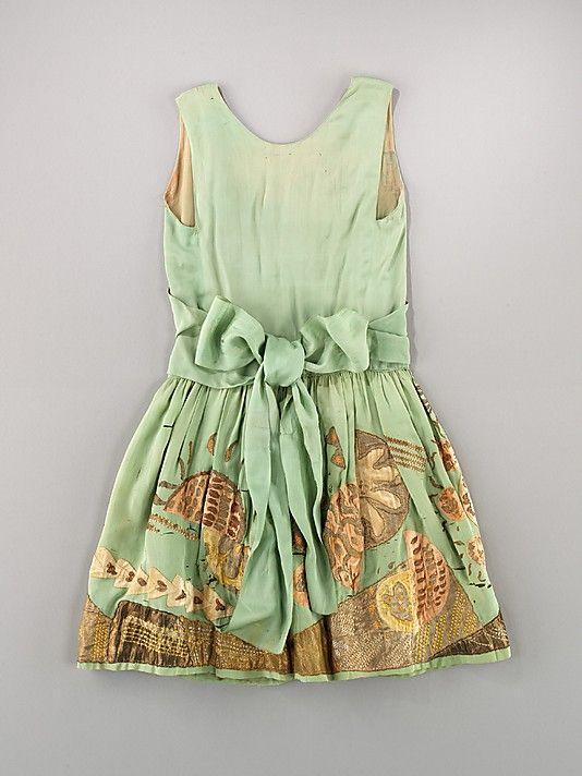 Evening dress, Myrbor, ca. 1926, French, silk and metal