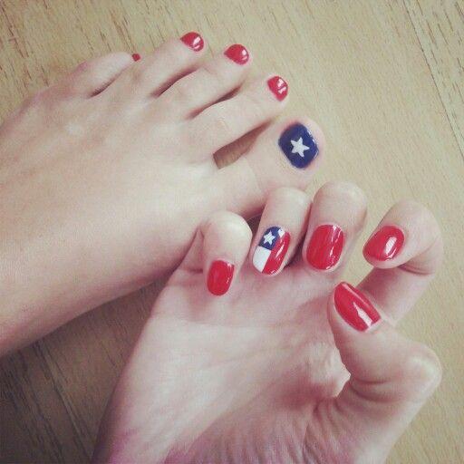 Uñas de Chile! / Chilean nail art! #nailart #chilena