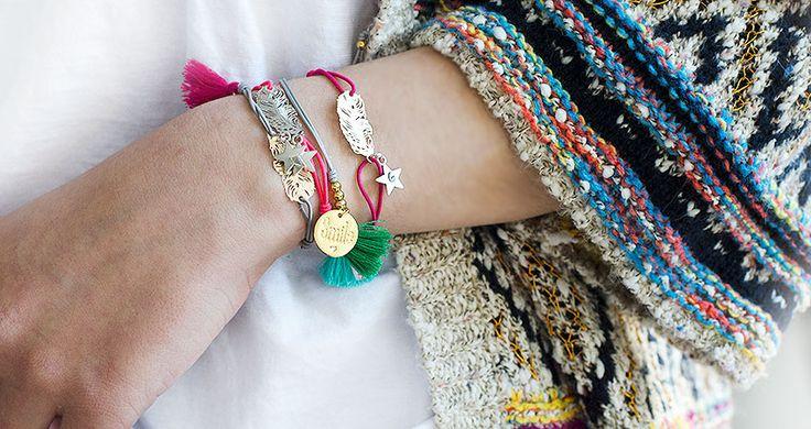 Joyas personalizadas, joyas grabadas. Pulseras con nombre.