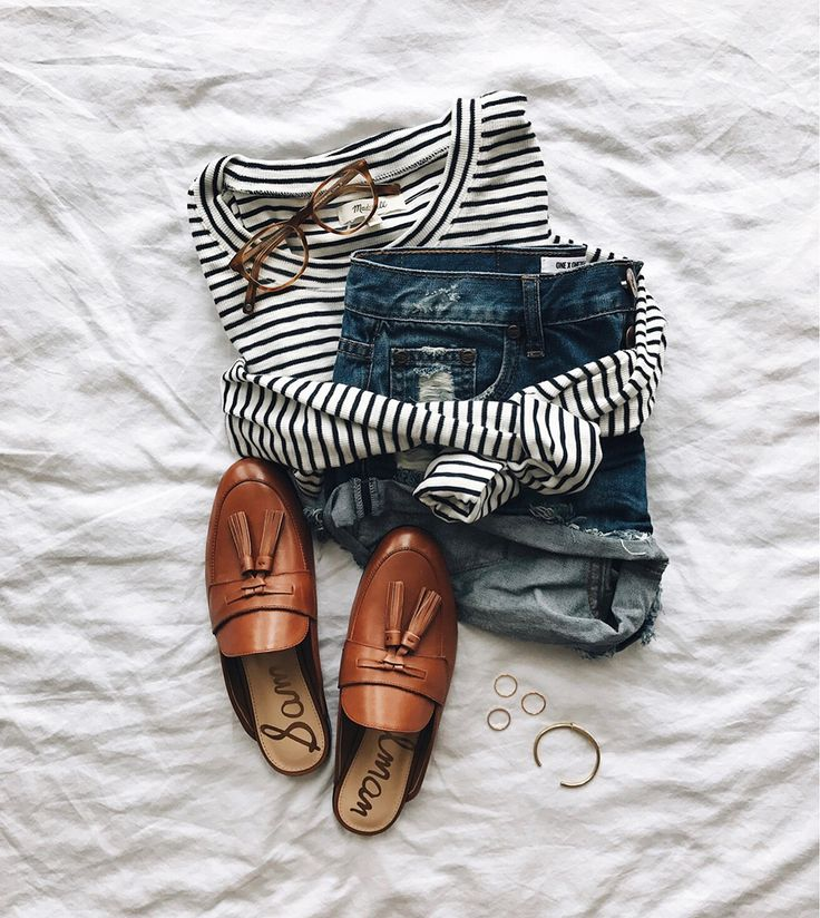 Classic, easy and fun! Any striped shirt would work because everything else is a neutral.