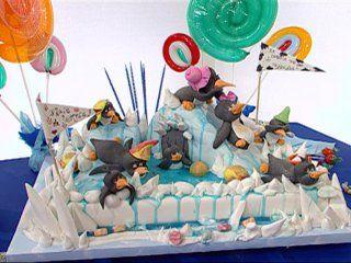 Pastel juegos de pingüinos!