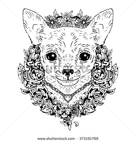 Chihuahua graphic dog, abstract vector illustration. It may be used for design of a t-shirt, bag, postcard, a poster, phone case and so on.
