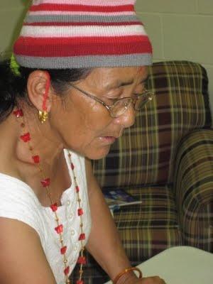 Bhutanese refugee woman.