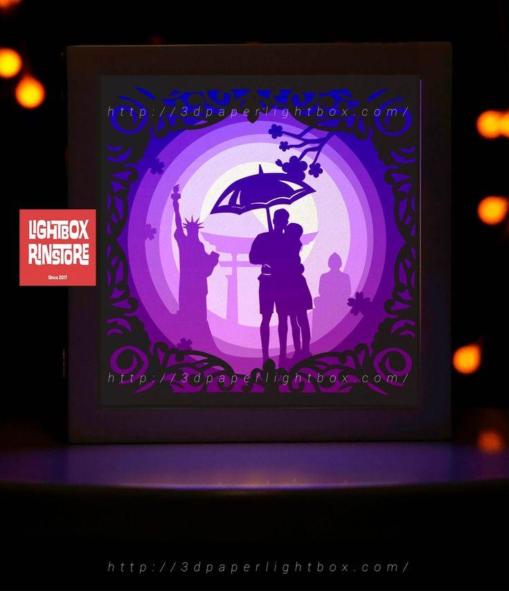 Bogo 183 Love You Paper Lightbox Templates Svg 3d Lightbox 3d Papercut Lightbox 3d Shadow Box Light Box Light Box Diy