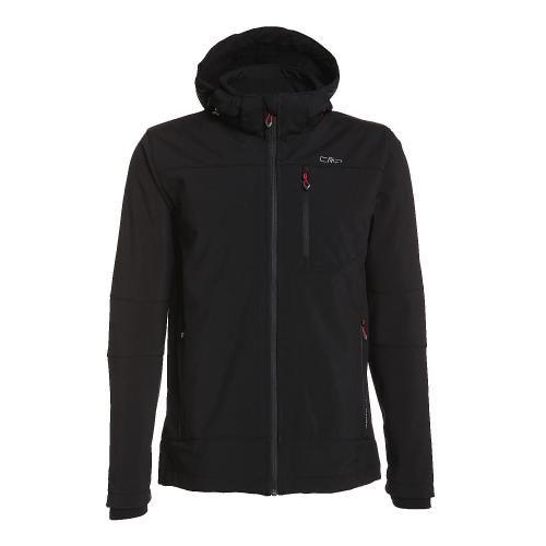 #Zip hood jacket softshell da uomo Nero  ad Euro 59.32 in #Cmp #Uomo