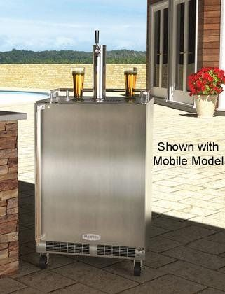 Marvel MO24BSS2RS 24″ Built-in Single-Tap Beer Dispenser with Half-Barrel Capacity 2 Stow-on-Board Refrigerator-Convertible Shelves…