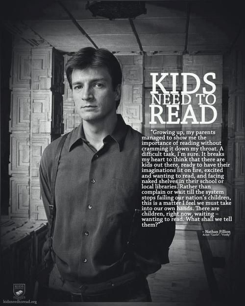 Our thanks to fellow book lovers at Feiwel & Friends for sharing such a great quote. Bonus points that the great quote is from Nathan Fillion!