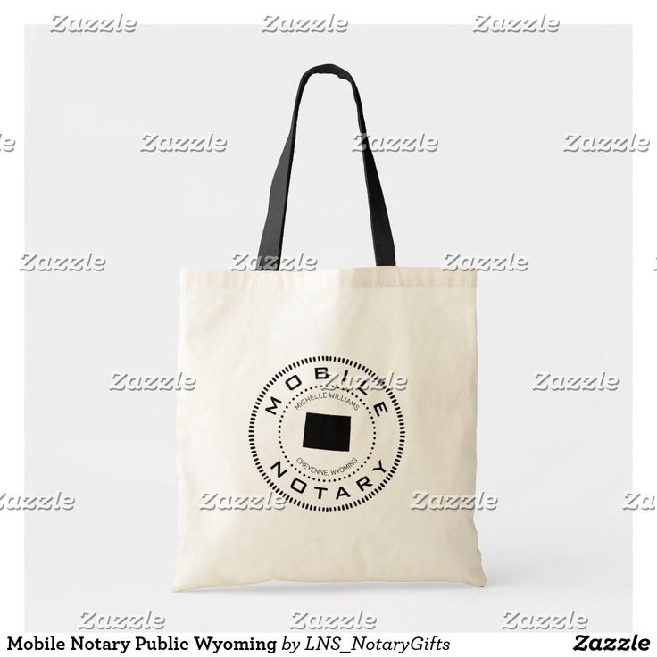 Mobile notary public wyoming tote bag in 2020