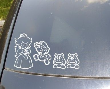 Mario family car decal