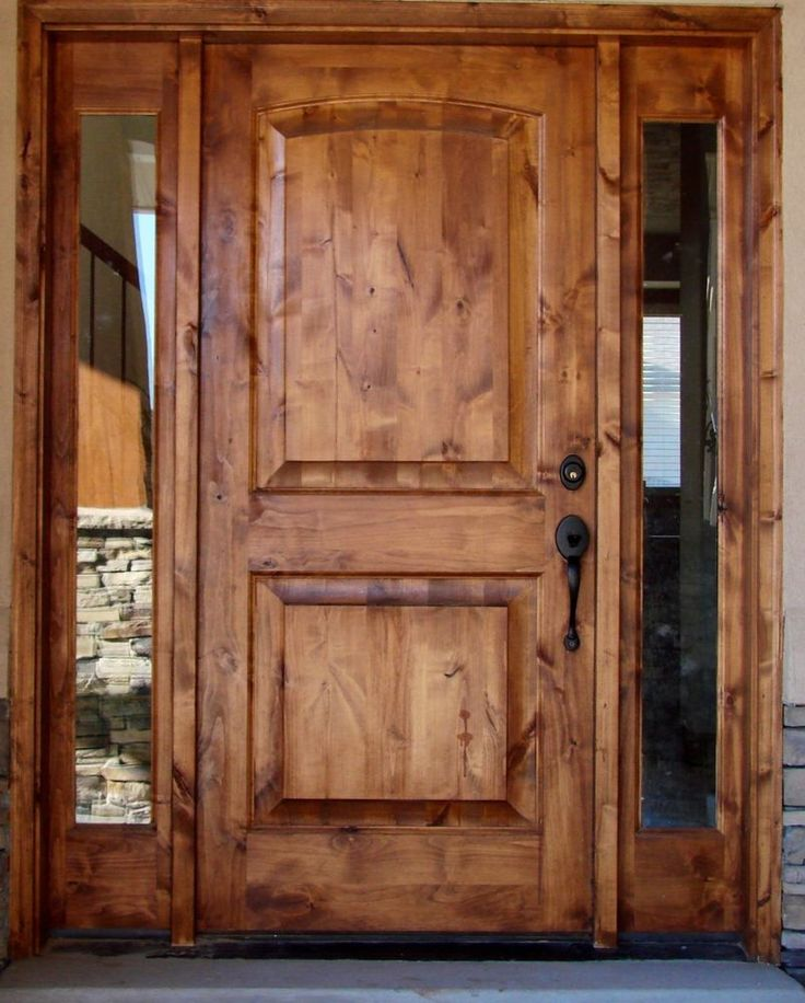TUSCANY DESIGN knotty alder Front Entry Solid Wood Door with (2) Sidelights #KrosswoodexteriorDoorwithsidelightsbrandnew