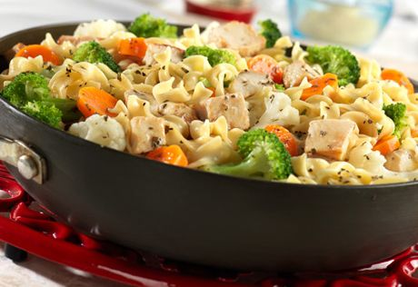 This quick and easy skillet dish features all your favorite ingredients from chicken noodle soup, butwithout the soup...instead its a hearty meal perfect for a busy day.