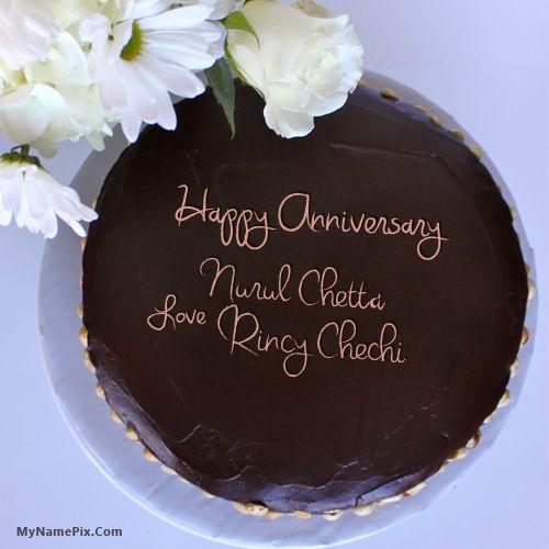 20 besten Anniversary Cake With Name Bilder auf Pinterest