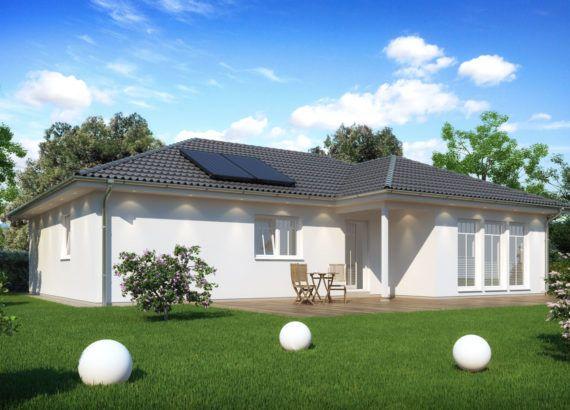 Fertighaus Bungalow mit Walmdach Architektur, barrierefrei