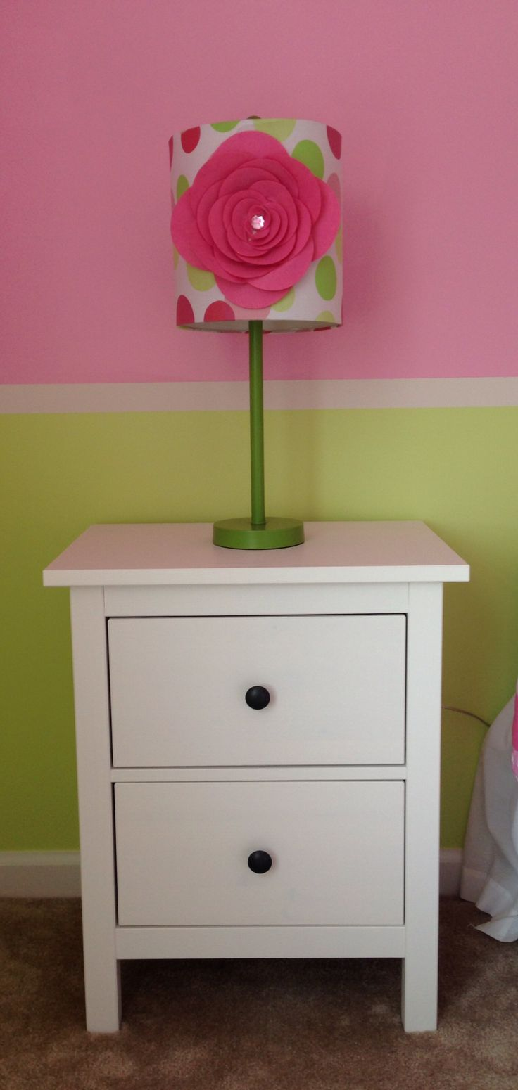 Wandregal Mit Schublade Ikea ~ and lamp for my sweet girl's bedroom (Ikea Hemnes nightstand in white