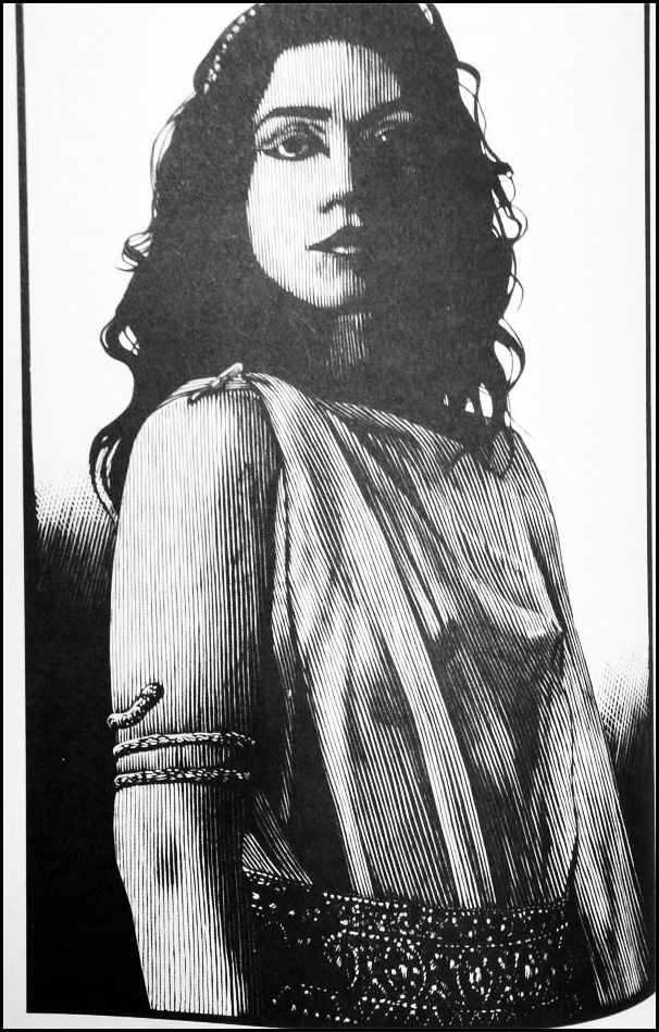 Salome by Barry Moser.   Barry Moser (born 1940) is an artist, known as a printmaker and illustrator of numerous works of literature.: