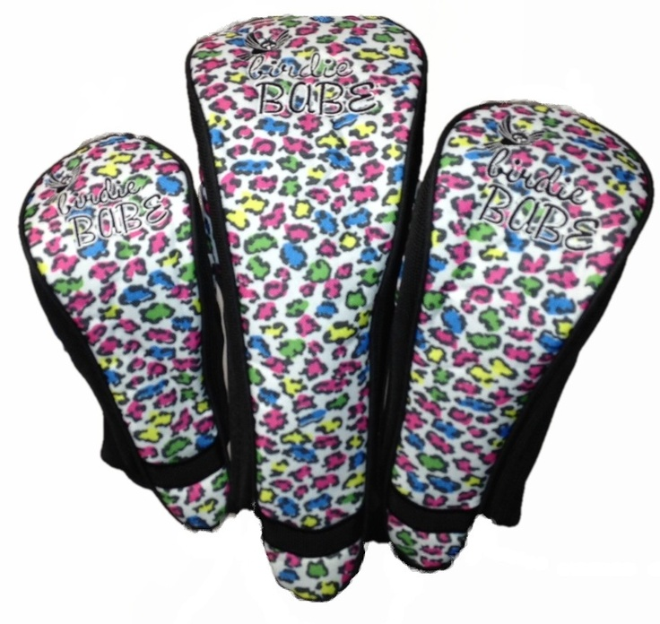 Birdie Babe Golf  - Colored Leopard Headcovers, $19.95 (http://www.birdiebabegolf.com/colored-leopard-headcovers/)