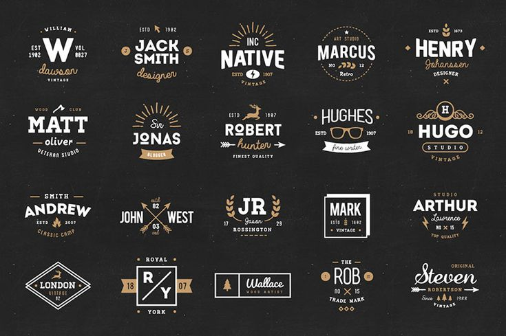 Creative Market: Free Goods of the Week    High quality freebies from Creative Market. Check out this week's vintage logos and badges,a psd template, free font and many more...   #freebie #vintage #design #icons