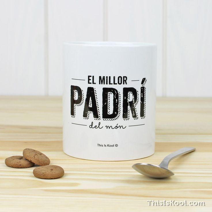 """Tassa - """"EL MILLOR PADRÍ DEL MÒN"""". Tassa per regalar al millor Padrí que es pot tenir. Regal original per regalar al Padrí el dia del casament."""