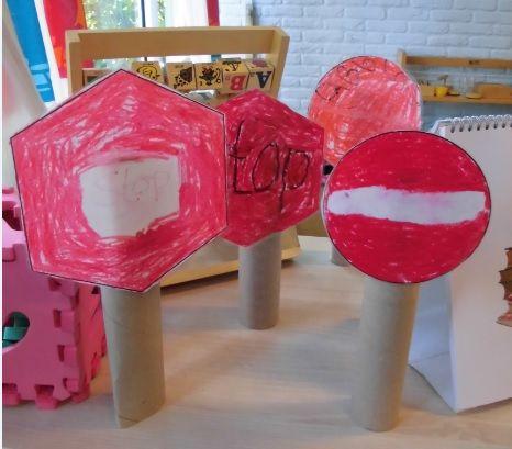 Verkeersbord maken | Klas van juf Linda