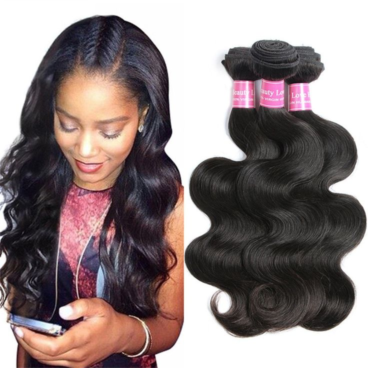 Suitable Hair Brazilian Virgin Hair 3 Bundles Body Wave Weft 10A Unprocessed Human Hair Weave Extensions Natural Color 3pcs (20 22 24)