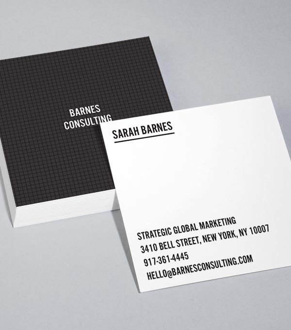 Best 25 Square business cards ideas on Pinterest