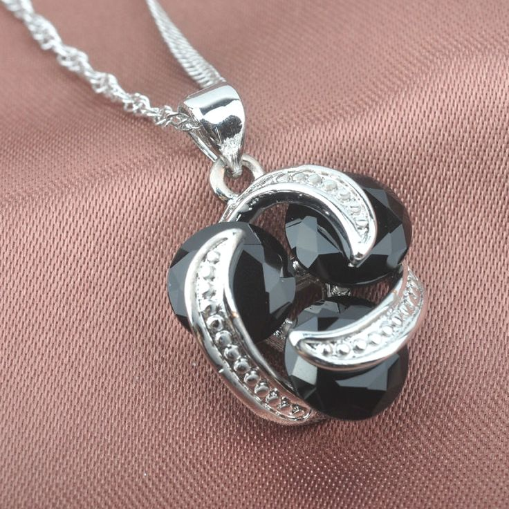 Classic Black Cubic Zirconia For Women 925 Sterling Silver