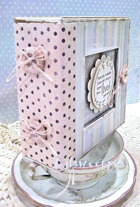 Twinkle, twinkle Altered Art Box by @Kristin Wilson Product by: #Graphic45 - 5x5 Altered Art Box