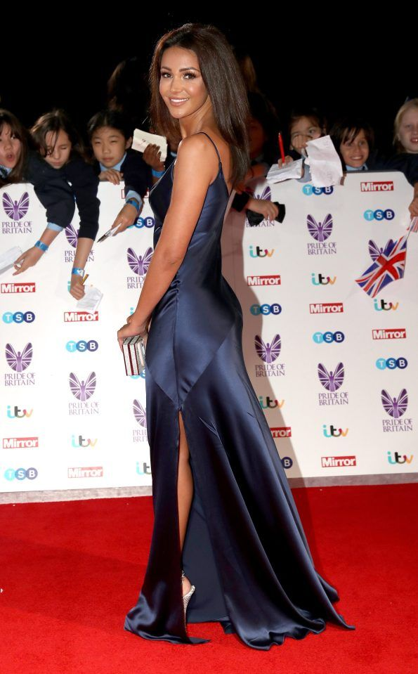 Michelle Keegan is flawless in this sapphire blue gown at the Pride of Britain awards