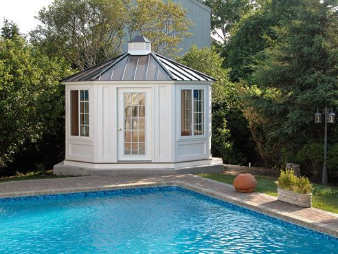 Looking For Some Great Ideas To Make Great Use Of Your Pool House Or Cabana?  Check Out Our Fabulous Pool Cabana Ideas Here!