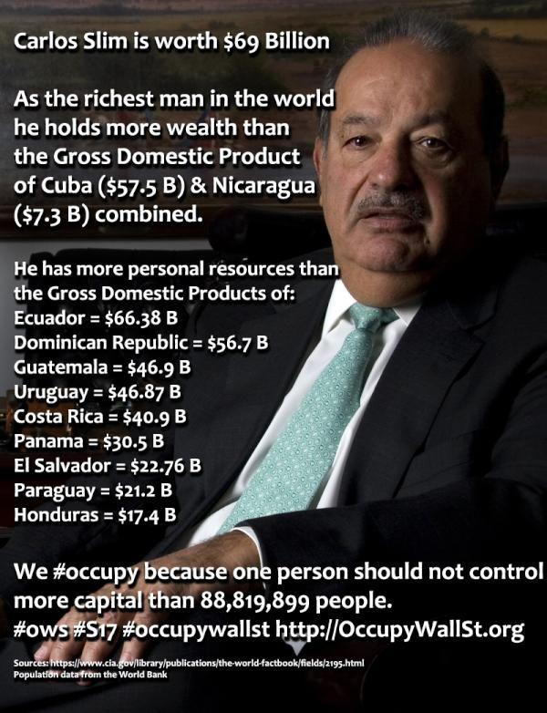 Carlos Slim richest man in the world