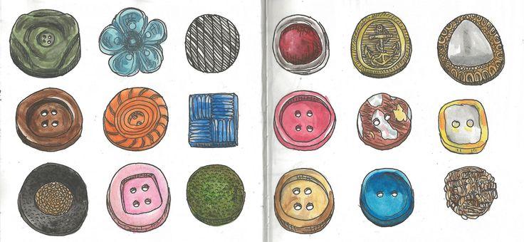 Buttons http://cargocollective.com/marianasantos http://marianasantosillustration.wordpress.com