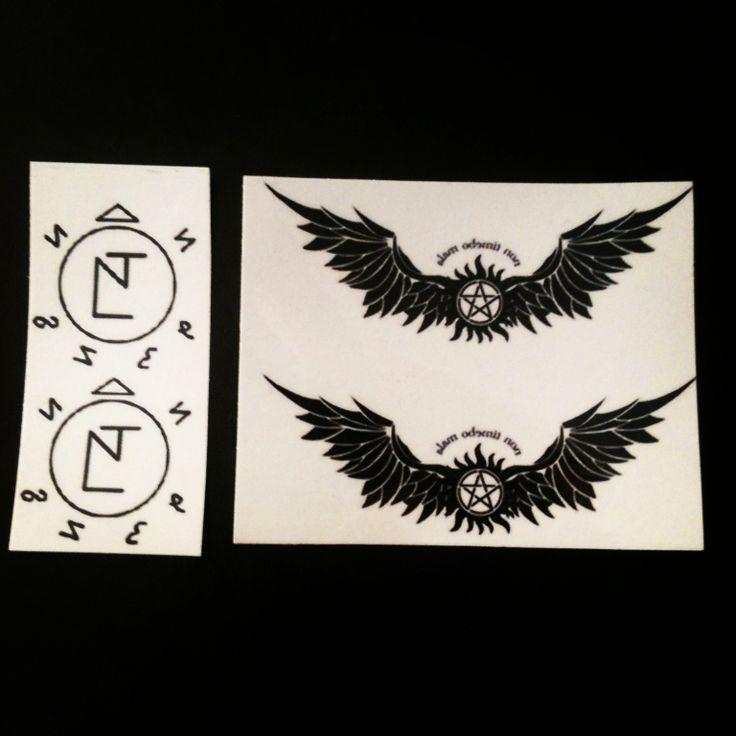 Tatuaggi Simboli Angelici.  Prezzo standard: 2.50 la coppia.