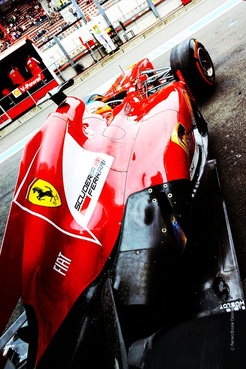 The red colour here is what flows in my blood, Scuderia Ferrai