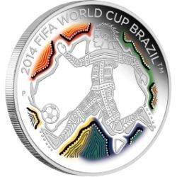 Perth Mint 2014 World Cup Silver coin