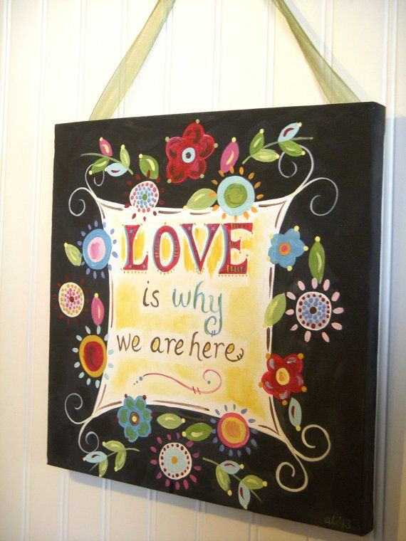 38 best My Shop - Home Decor Paintings images on Pinterest | Canvas ...