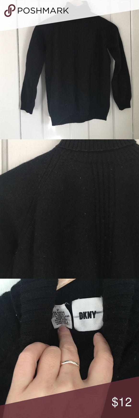 DKNY petite sweater 100%wool Mint condition. Very warm turtleneck. Is petite I say xs DKNY Sweaters Cowl & Turtlenecks