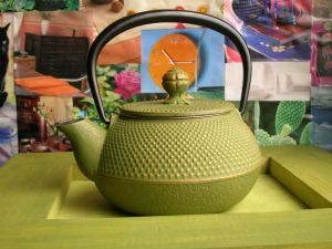 Té verde para secar granos y espinillas