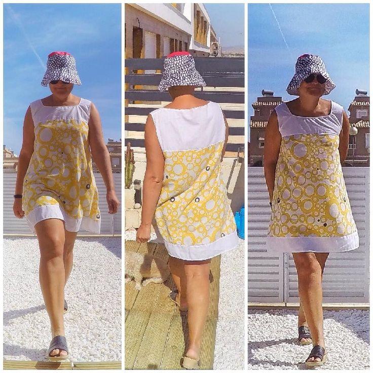 #dress #vestido made of #recycledmaterial (sheet) #recycle #recycled #reciclaje #reciclajecreativo #reciclajeconestilo #hechoamano #handmade #sewing #coser #style #moda #fashion #summer  #midiseño #mydesign #sustainable #sustainableliving #sustanible #sustaniblefashion #vhga #granalacant #santapola #ethicalfashion #mod