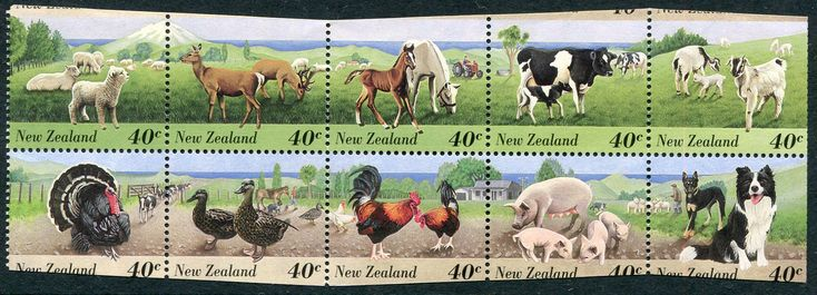 #326771    NZ Error 1995 Farm Animals 40c booklet pane of 10 complete with miss guillotined sides, wavy cut as formed in booklet, top now at base etc, unusual error, nice themes, unhinged mint ... All Items are available for Direct Sale unless stated otherwise, you can email us directly via the below Contact Us Link or you can place an order via our web site www.completestamp.com or simply click the item Link above. All items are Guaranteed to meet description, Payment options include Direct Credit, Paypal, Visa, Mastercard, Cash. Postage and Insurance options will be quoted on receipt of your order.  Deal with confidence, members of the NZSDA. #Stamps #Errors #MADonC