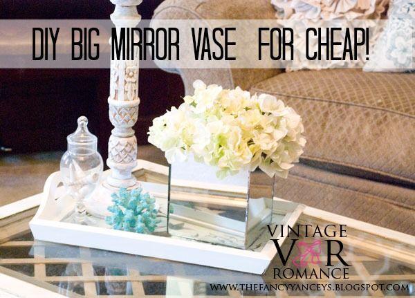 Diy Big Mirror Vase For Cheap Glam Beach Glam Home Decor
