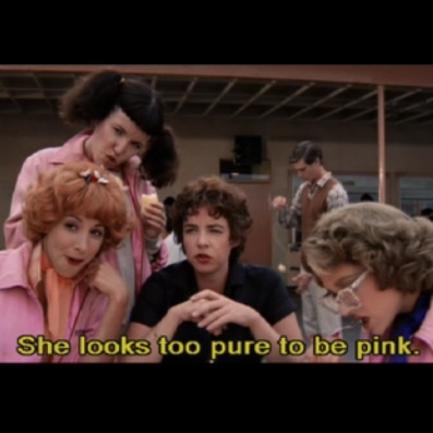 The Pink Ladies, led by Rizzo... Stockard Channing is a goddess.