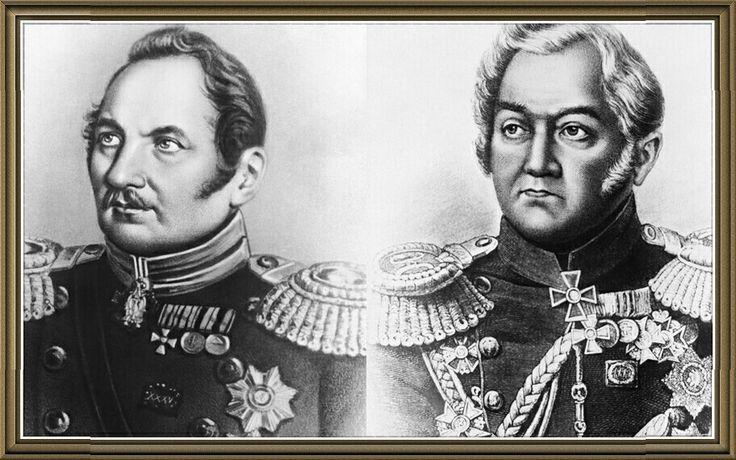 Фаддей Фаддеевич Беллинсгаузен и Михаил Петрович Лазарев.