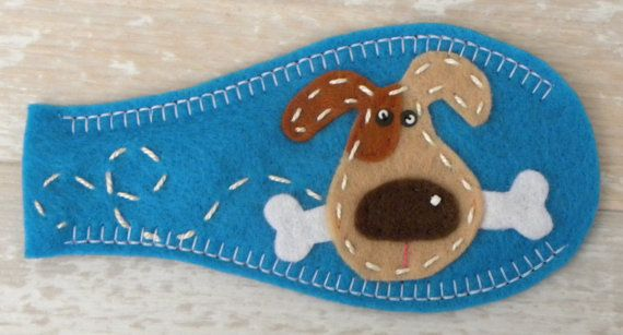 Ojo parche perro en azul por PatchMe en Etsy