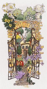 Secret Gardens 1 cross stitch kit by Michael Powell