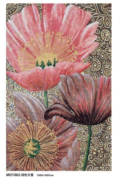 Cheap Precio de fábrica más nuevo diseño de la flor pintura al óleo comedor de la pared interior decoración mural de mosaico de azulejos, Compro Calidad Mosaicos directamente de los surtidores de China:  Somos una fábrica, así que prometer nuestros productos son directamente d