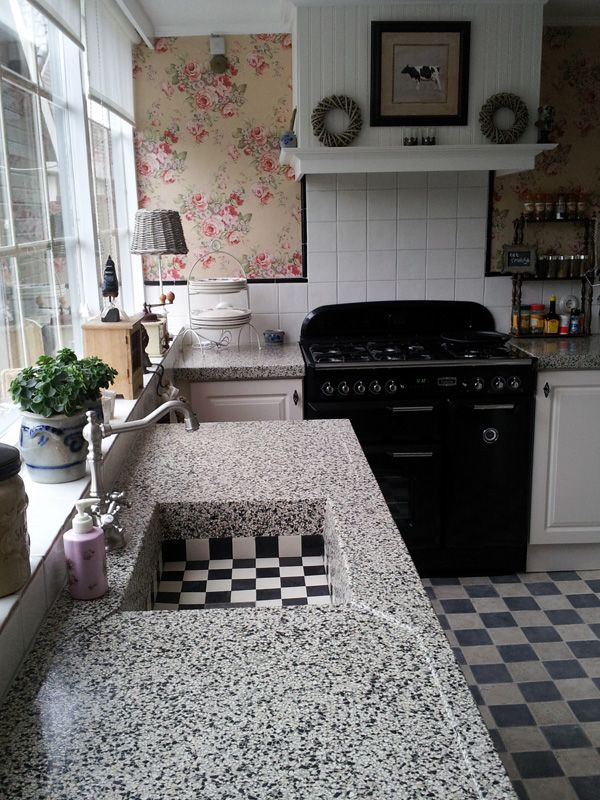 Terrazzo makes for great countertops. Durable, beautiful and easy to maintain, terrazzo is a great option. www.terrazzco.com