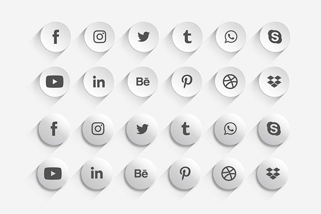 Download Free Social Media Icon Set Template In Psd Ai Eps Social Media Icons Free Free Psd Psd Template Free