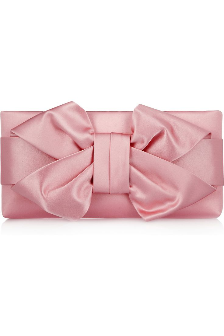 Valentino|Bow silk-satin clutch |NET-A-PORTER.COM (except in a different color.. tiffany blue perhaps?)
