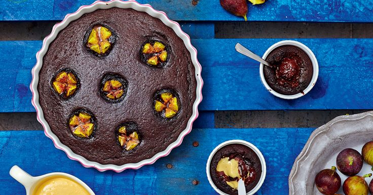 Chocolate Molten Pots and Chocolate Fig Pudding from The Art of Eating Well by Melissa and Jasmine Hemsley.