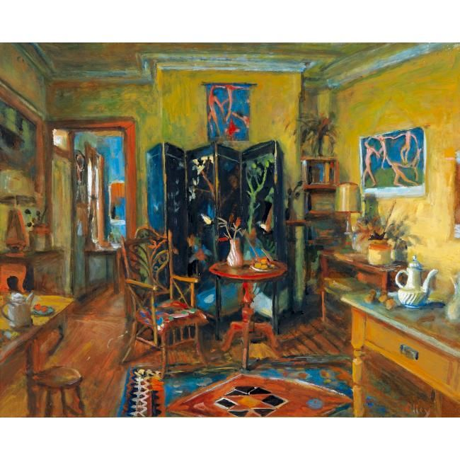 Afternoon (Chinese Screen and Yellow Room), Margret OLLEY